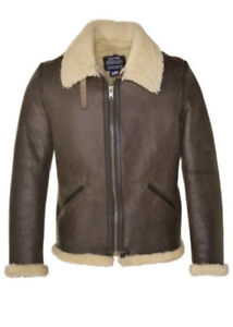 Schott NYC Mens Shearling Leather Jacket ONLY $500 WORTH $1500