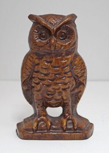 ANTIQUE OWL BIRD CAST IRON  DOORSTOP WILDLIFE  CA. 1930