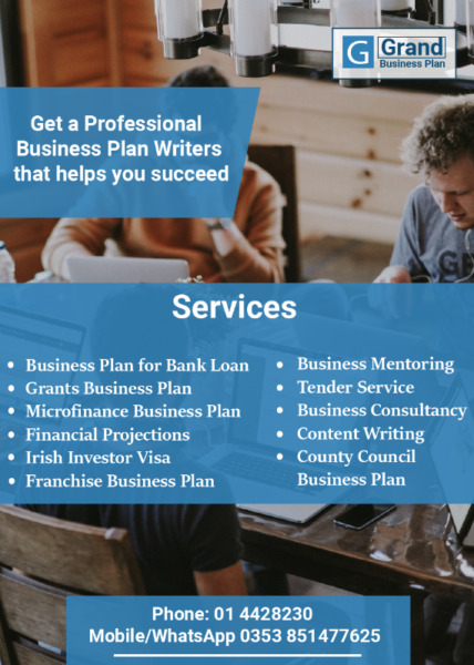 Professional Business Plan Writers in Ireland