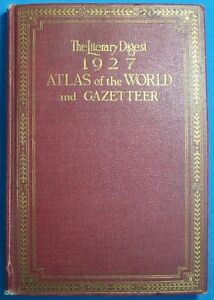 THE LITERARY DIGEST 1927 ATLAS OF THE WORLD