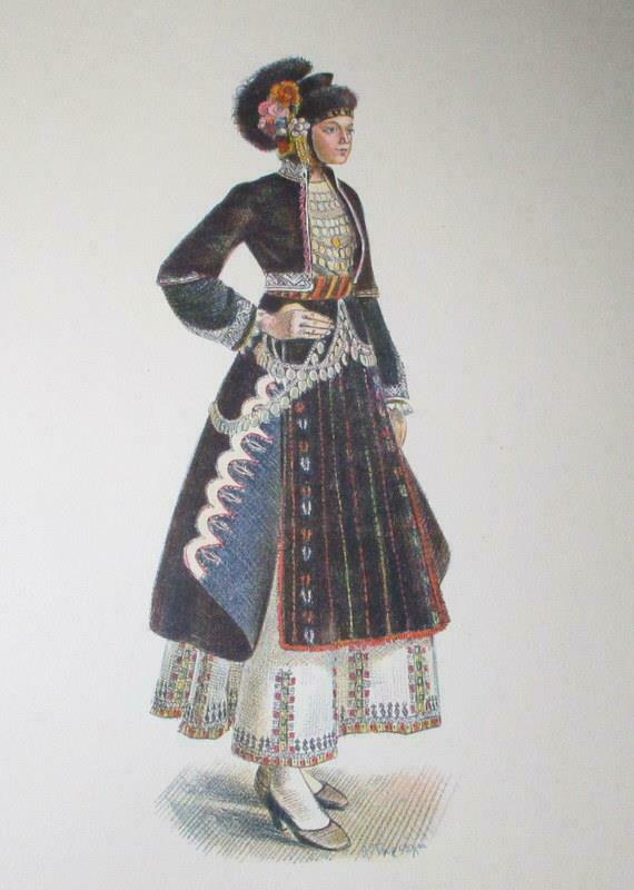 Vintage Macedonia Fashion Plate Portfolio
