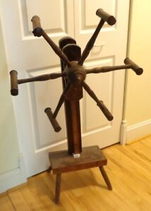 Primitive Antique 6 Arm Wool Winder. Skeining Reel.