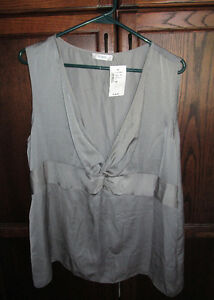 Ladies tank style grey blouse from Ricki's size 16 *NEW w/tags