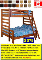 Premium bunk bed. Made in Canada. Great for cottages. Only $579