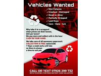Vehicles Wanted - Scrap Cars Wanted - Fast Collection Best Prices Guarenteed