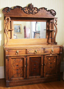 Gorgeous antique buffet and hutch