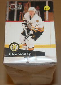 1991-92 PRO-SET HOCKEY CARD COMPLETE MINT SET SERIES 1 (1-345)