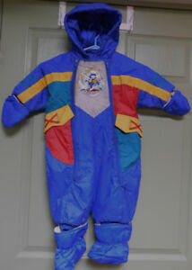 BLUE HOODED SNOW SUIT