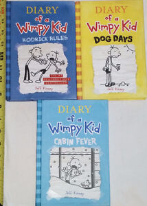 Qty 3 x Diary of a Wimpy Kid Hardcover Books - Rodrick Rules, Do