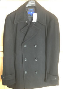 **MEN'S NEW WOOL BLEND WINTER DRESS COAT FOR SALE-SIZE L SLIM**