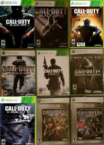 XBOX 360 Call of Duty games (Various Prices)