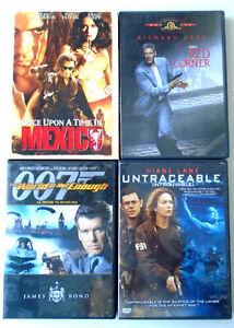 DVD Movies - Untraceable, Red Corner, James Bond...