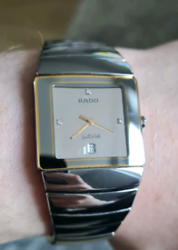 RADO Jubile Sintra Hi Tech Ceramic Gents Silver Diamond Watch