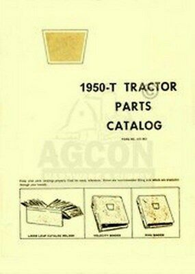 Oliver 1950-t Tractor Parts Catalog Manual