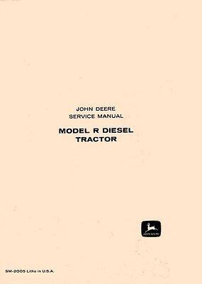 John Deere R Diesel Tractor Service Manual Sm-2005