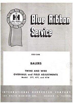 International 37t 47t 47w Baler Overhaul Service Manual