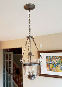 Clear Glass Ceiling Light Fixture