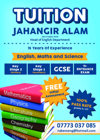 PGCE Qualified Experienced Teacher English/Maths/Science:GCSE/KS3/KS2