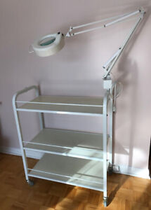 Facial Trolley with Magnifier Lamp