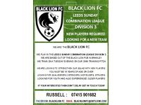 Sunday league football players required