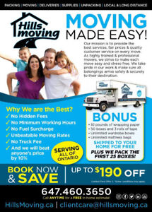 Moving? Let Hills Moving Do The Work!