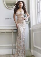 Sherri Hill PROM/PAGENT Dress #11125 in Nude Size 4