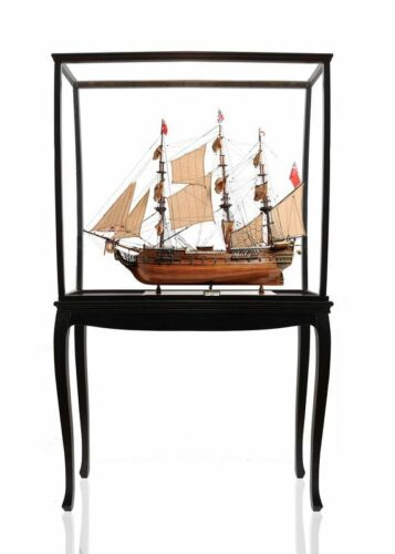 "HMS Surprise Tall Ship Model 37"" Master Commander w/ Floor Display Case w/ Legs"