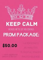 Prom Photography Package $50