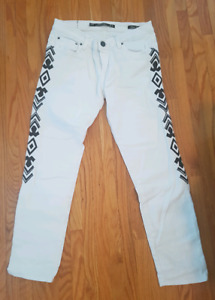 White cropped jeans for sale