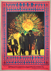 Victor Moscoso 1967 concert poster- Siegal Schwall Band