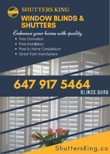Shutters,Blinds and Zebra Shades special sale