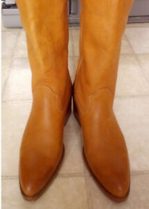 TEXAS Cowboy Boots - 25 1/2 Real Leather Lady Boots