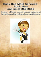 BUSY BEE MAID'S SERVICES  15.00 $ BOOK NOW ,.