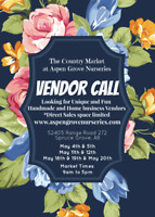 VENDOR CALL FOR BUSY SPRUCE GROVE MARKET