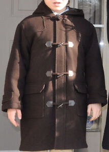 Jacadi Brown Classic Winter Wool Dress Coat - Boys 5-8 - $100