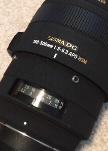 Mint! Nikon Sigma DG 150-500mm 1:5-6.3 APO HSM