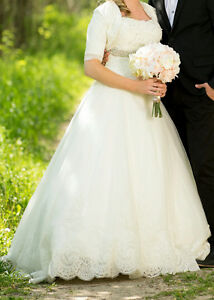 Light Ivory Lace Princess gown