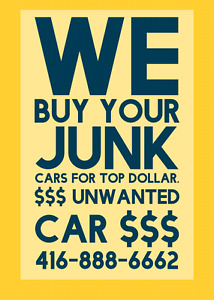 TOP PRICE PAID FOR UNWANTED SCRAP JUNK VEHICLES.  Call or text!