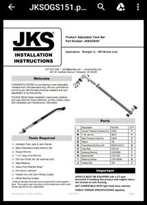 JKS Jeep track bar