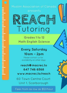 REACH Tutoring - Affordable, OCT Experienced Tutors