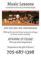 Music Lessons for all ages and instruments