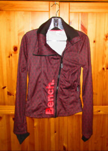 BENCH Womens Athletic Jacket XS Red Navy Blue Star Pattern $50
