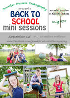Photography - mini sessions, beach / baseball / vintage / school