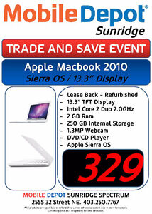 """Trade&Save Apple Macbook 13.3"""" 2010 WITH SIERRA OS"""