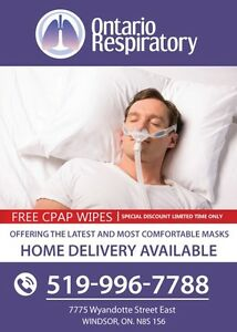 Free CPAP wipes with any MASK purchase