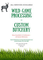 Coldwater Wild Game Processing - All Services Available