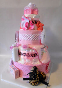 DIAPER CAKE Creations Baby Shower or Christmas Gifts