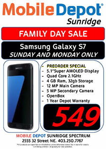 FAMILY DAY SALE - SAMSUNG GALAXY S7 UNLOCKED HELD OVER TUESDAY