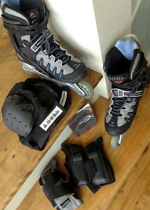 Roller Blades & Pad Gear -  Womens size 7 - LIKE NEW