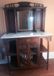 Antique Marble top Sideboard/cabinet